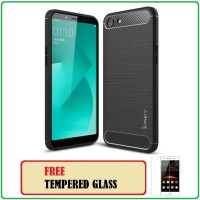 Case Ipaky Carbon Fiber OPPO A83 Soft Series - FREE TEMPERED GLASS