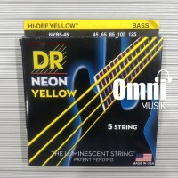 Senar Bass DR String Neon Yellow 5 String - NYB5-45 45-125