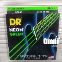 Senar Bass DR String Neon Green - NGB40 40-100