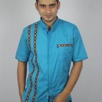 Baju Koko Pria casual, Busana Muslim Pria TN 64 Biru Muda