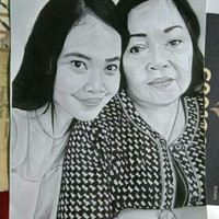 lukisan sketsa wajah ukuran a3 (2 wajah)