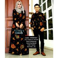 Setelan Gamis Batik Couple Motif Nirwana