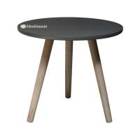 Meublemont Concrete Top Vintage Round Side Table Meja Samping - Grey
