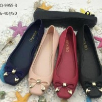 Jelly Shoes Premium Little Bow II - Sepatu karet Flatshoes - S ard