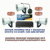 Paket Sound system Toa Area Parkir,Gudang dan Tambang