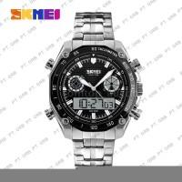 MCM6 Jam Tangan Pria Digital Analog SKMEI 1204 Black Water Resistant