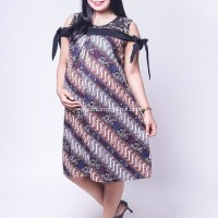 Dress Hamil Batik Menyusui Sabrina Brokat Pita Zenia Dress - BTK 151