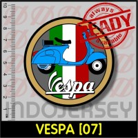 Stiker Baju Setrika Flock - VESPA [07]