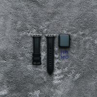 Apple Watch Leather Strap Handmade Padded Series Jade Black