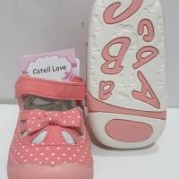 Sepatu Bayi/Baby Walker Shoes - PINK POLKADOT