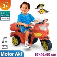 Ocean Toy Ride On Motor Aki Halilintar Mainan Anak - Orange