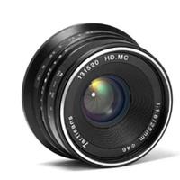 7artisans 25mm F1.8 Black For Sony / Fuji Lens Wide Lensa BONUS Filter