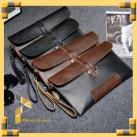Clucth Pria Wanita Hand Bag Korea Import Dompet Kulit Kuda 8117