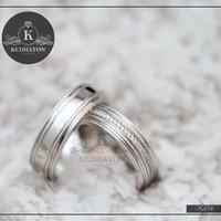 cincin kawin palladium dan emas putih k127