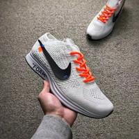 Sepatu Nike Flyknit Racer Foam X White Size 40-44 Sneakers pria terbar