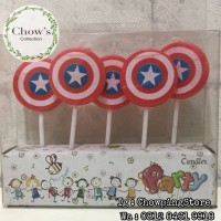 Lilin Ulang Tahun / Lilin Ultah Karakter Tameng Captain Amerika