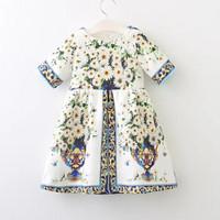 GA2650 WHITE DAISY ETNIC DRESS (BAJUKIDDIE) DRESS ANAK LEBARAN PESTA