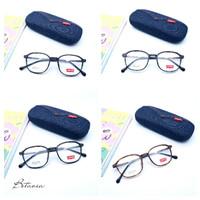 Frame Kacamata Minus Kekinian Levis Lentur Flexible+Lensa Antiradias