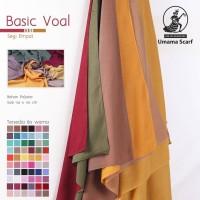 Kerudung VOAL BASIC UMAMA Hijab Jilbab Segi Empat Polos