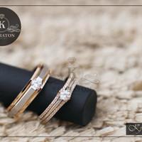 cincin kawin palladium dan emas putih k129