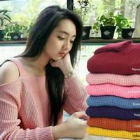 atasan wanita roundhand sabrina sweater baju rajut cewe blouse modis
