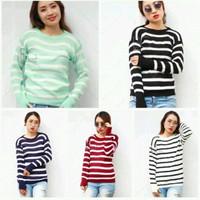 atasan wanita modis roundhand blaster sweater baju rajut cewe blouse