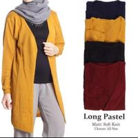 atasan wanita long pastel roundhand sweater baju rajut cewe blouse