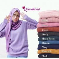 atasan wanita roundhand finger sweater baju rajut cewe blouse modis