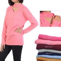 sweater wanita rajut modis roundhand rope knit baju cewe blouse