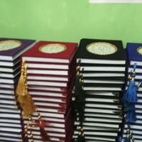 Cetak Buku Yasin Beludru 208 Hal MP Jahit + Siku + Rumbai + Plastik
