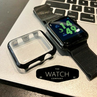 Apple Watch Case Screen Protector Glass Tempered Full Cover 42mm&38mm