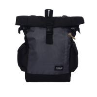 Tas Punggung Ransel Gulung Rolltop Backpack Rucksack - Brave Troy Grey