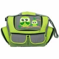 DIALOGUE Baby Diapers Bag   Tas Bayi Besar Jumbo Owl Series (DGT 7244) - Hijau muda