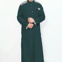 Jubah Cordova Al-Isra Warna Hijau Botol Pakaian Gamis Pria