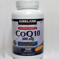 Kirkland Signature CoQ10 300 mg 100 Softgels coenzyme co q10