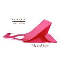 Per 12pc Tas Spunbond 22x22x26cm Tasbox Pink Fanta Goodiebag Parcel
