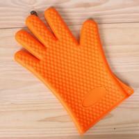 Sarung Tangan Silikon Anti Panas Anti Oven/Masak - Merah