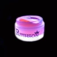 Pomade Ritjhson Glow in the dark RED merah  Free sisir saku mak