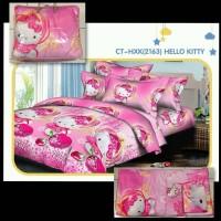 Bedcover set + sprei ukuran 180X200 Hello kitty bahan tidak luntur