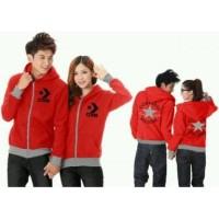 4310 jaket couple converse kece casual merah maroon babyterry murah