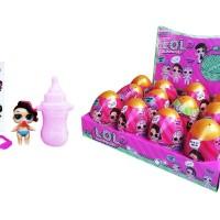 Promo LOL SURPRISE EGG GOLD REPLIKA toys boneka l o l lil sister mura