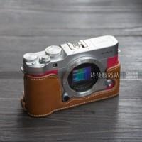 Fujifilm Fuji XA3 X-A3 Leather Camera Bag Bottom Case