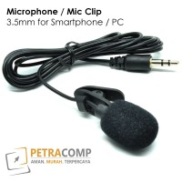Microphone / Mic Clip 3.5mm for Smartphone / PC