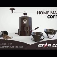 Star Cam Grinder Vacuum Gilingan Kopi w/ Permanent V60 Dripper SCG-017