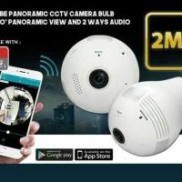 CCTV WIFI Lampu Bohlam panoramic 360 derajat