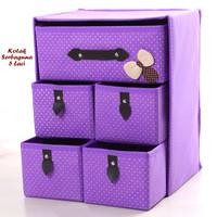 Kotak Serbaguna 5 Laci PURPLE Kotak Pakaian Dalam & Aksesoris