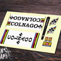 Stiker & Decal Frame Sepeda Colnago Vintage