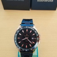 Jam Tangan Pria Cowok Formal Excellence 8515 Tahan Air Black Rose Gold