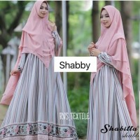baju muslim lv pink shabby monalisa premium gamis only