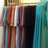 Baju Gamis baloteli basic dress syari seragam polos muslim